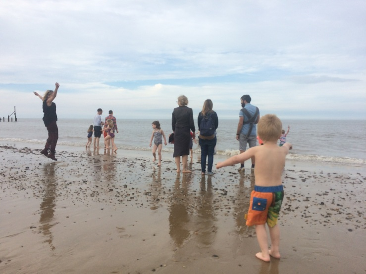 100 Happisburgh beach adults and kids