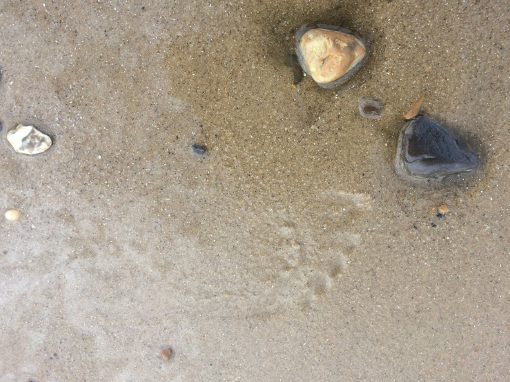 97 Happisburgh beach footsteps 2